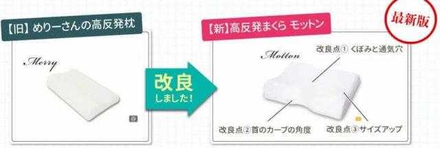 モットン めりーさんの高反発枕 特徴