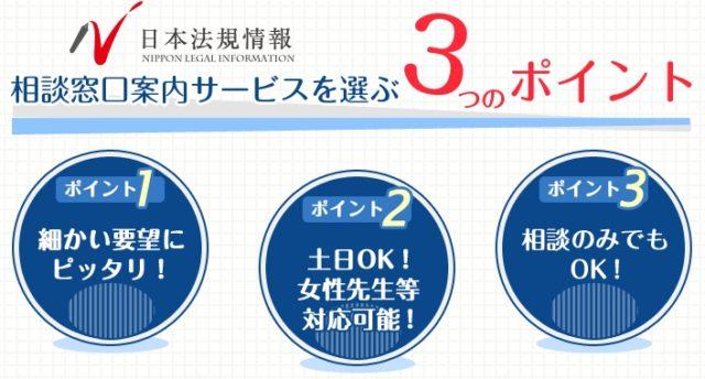 日本法規情報 債務整理サポート 特徴
