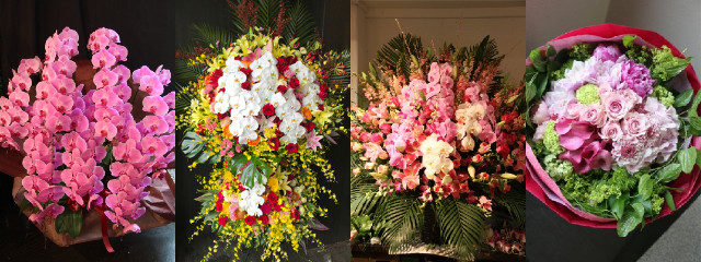 胡蝶蘭 スタンド花 アレンジメント 花束