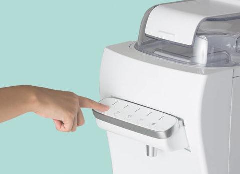 ウォーターサーバー ボタン