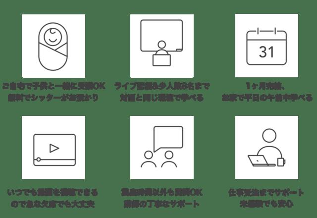Fammママwebデザインスクール 特徴