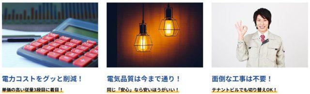 ライトでんき 特徴