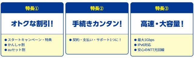 AsahiNet光 Asahiネット光 特徴
